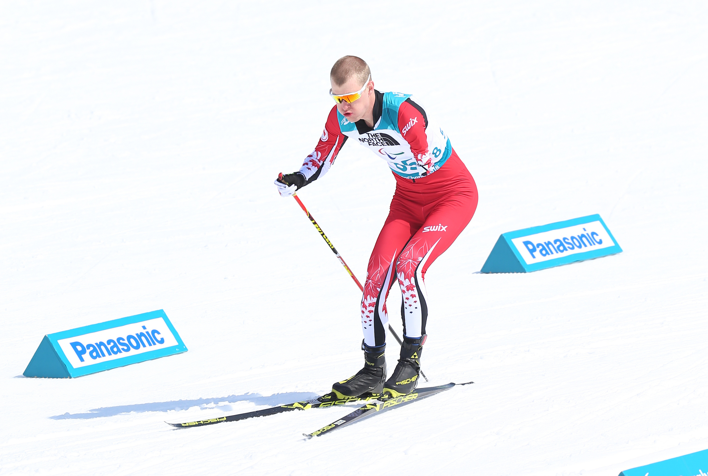 Eight-time Paralympic medallist Mark Arendz, seen here competing at the PyeongChang 2018 Paralympic Winter Games.