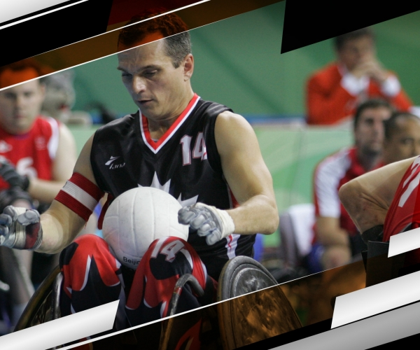 David Willsie in wheelchair rugby action