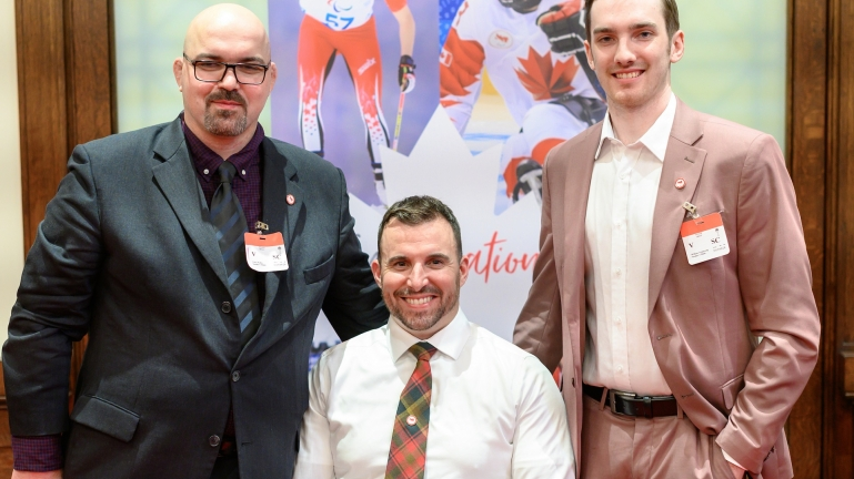 Para athletes Tony Walby, Jon Thurston, and Rob Armstrong at the ImagiNation year two celebration event.