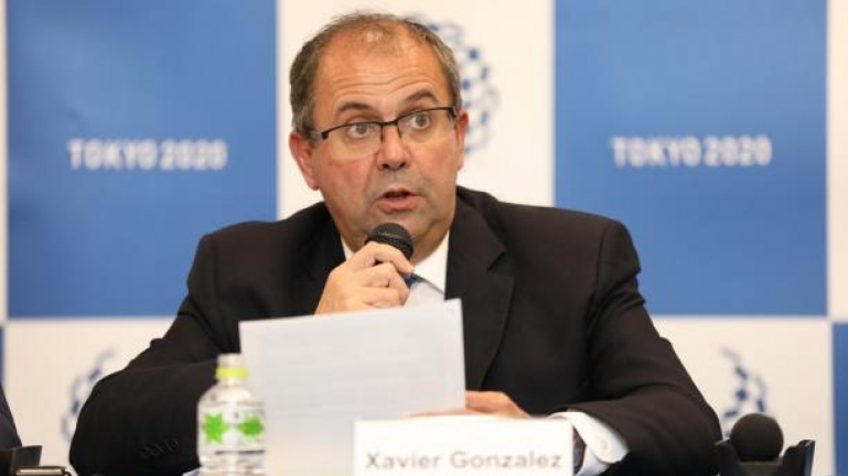IPC CEO Xavier Gonzalez speaking at a press conference