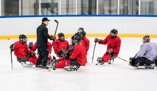 Para ice hockey team