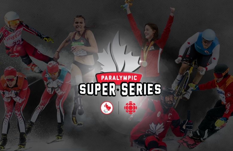 Paralympic Super Series logo; a half maple leaf in silver