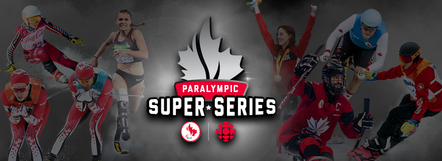 Paralympic super series logo with a montage of the athletes